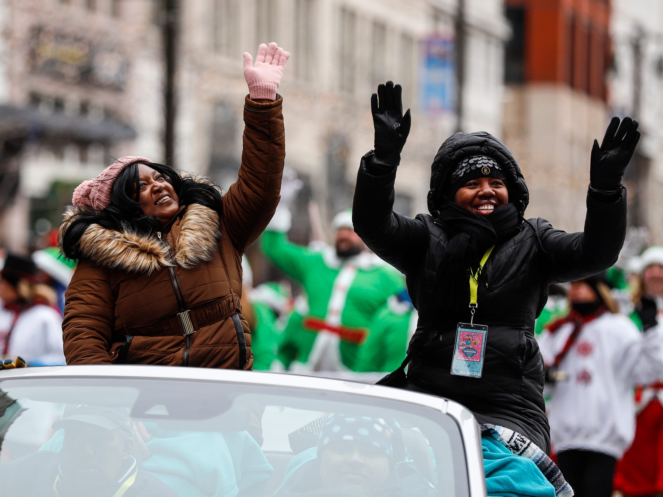 Members of Aretha Franklin's family are honored during the 92nd America's Thanksgiving Day Parade in Detroit, Thursday, Nov. 22, 2018.