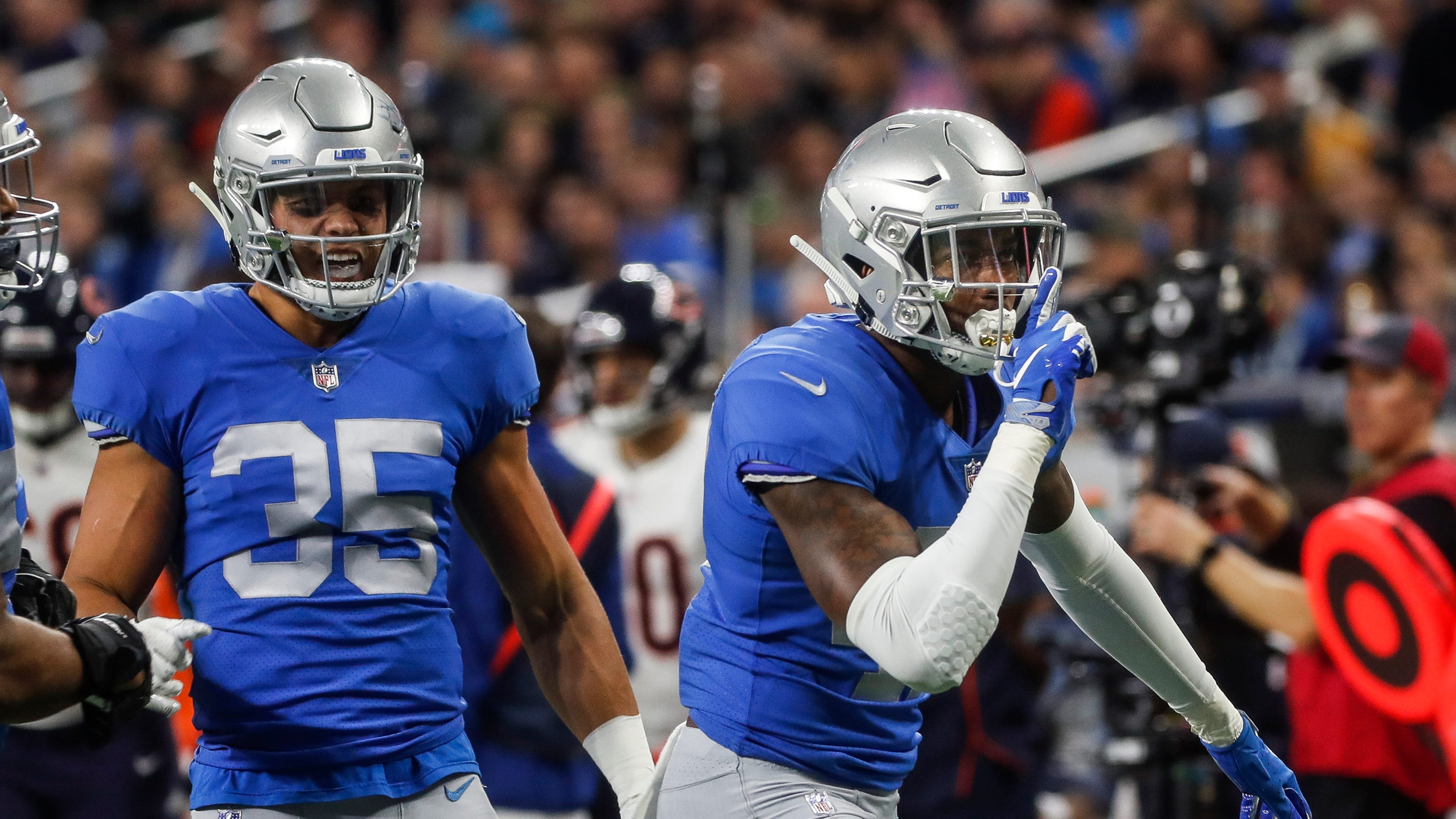 best sneakers 4283b 10480 Detroit Lions football has an emerging star at safety in ...