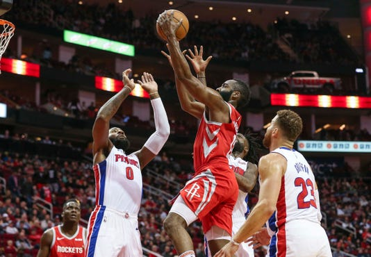 detroit pistons can t stall houston rockets in 126 124 loss