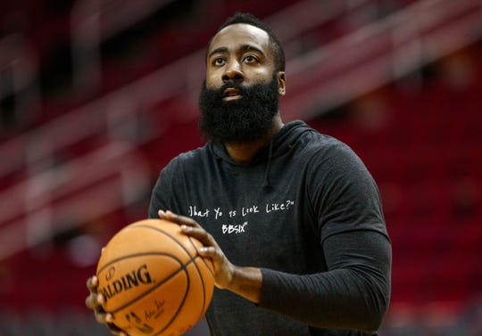 James Harden led the NBA in assists per game in 2016-17 while playing for Houston.