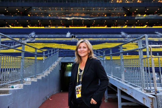 Angelique S. Chengelis at Michigan Stadium in 2012.