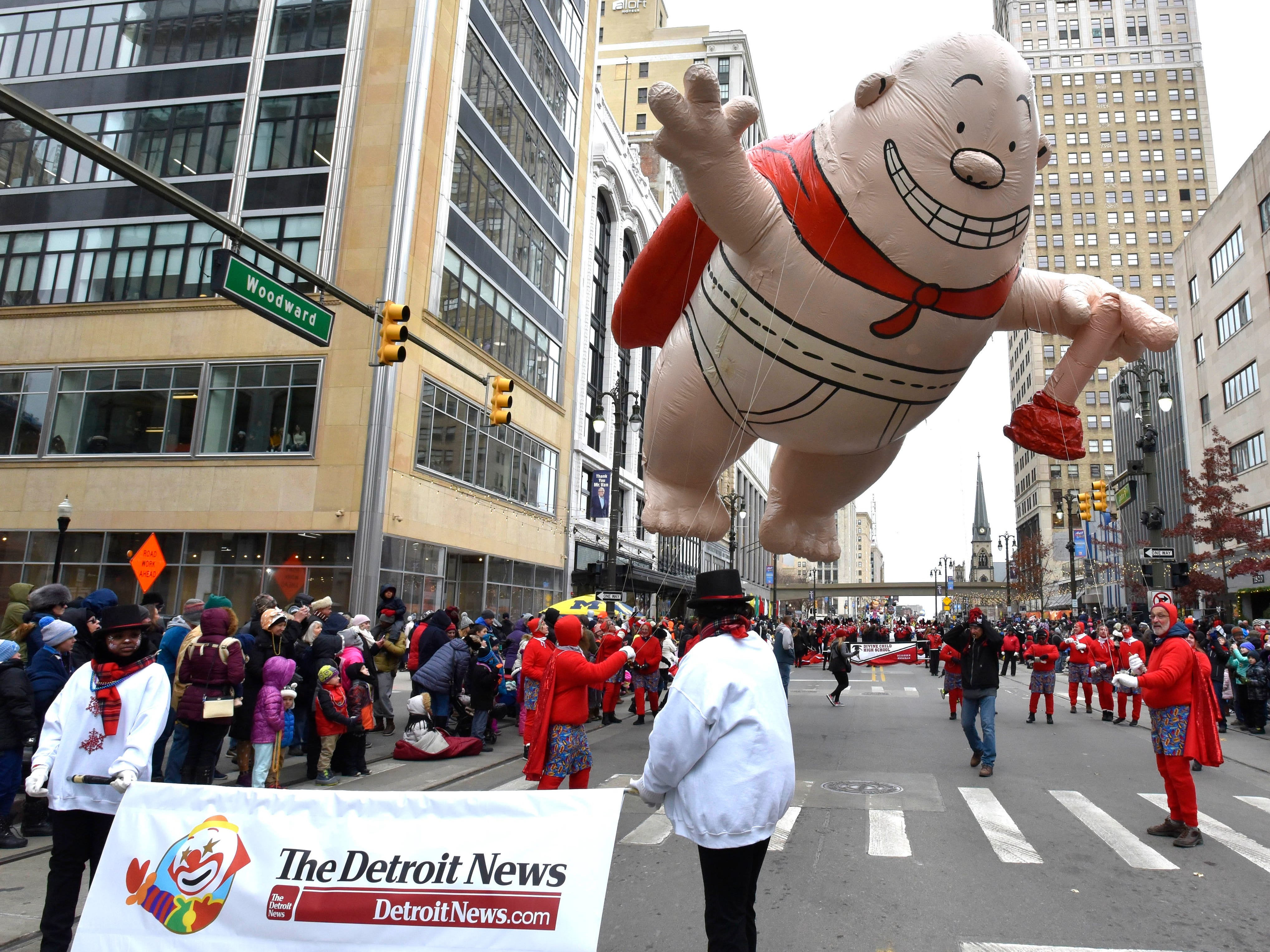 The Captain Underpants balloon is sponsored by The Detroit News.