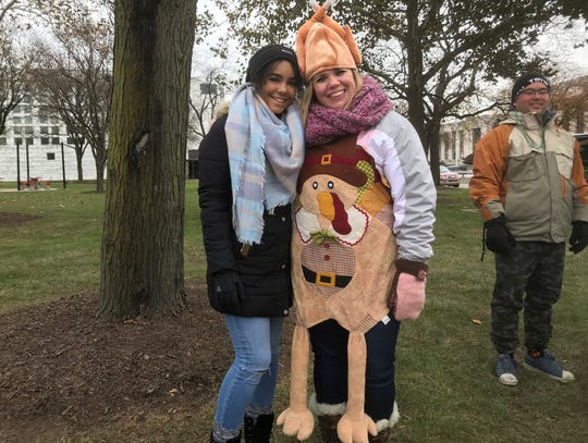 For Rebecca Hovarter, right, of Howell, America's Thanksgiving Parade is a family tradition.