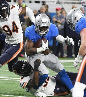 Lions running back Theo Riddick had 61 receptions last season, but his yards after catch continues to dip.