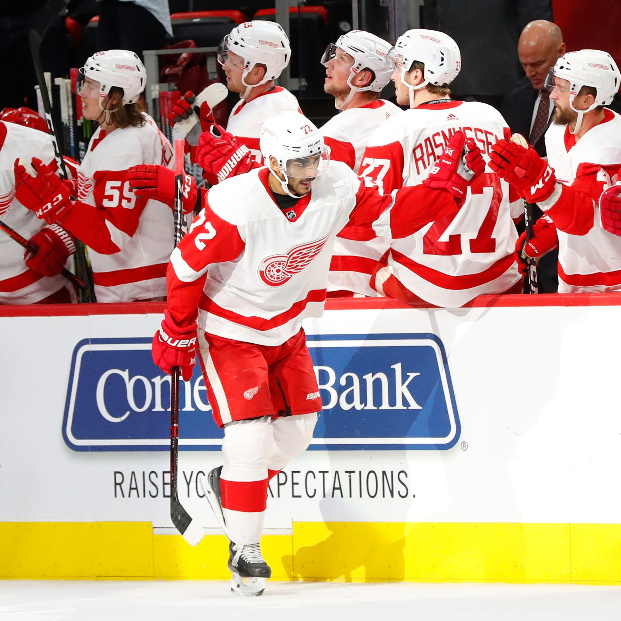 Athanasiou gives Red Wings overtime victory over Bruins