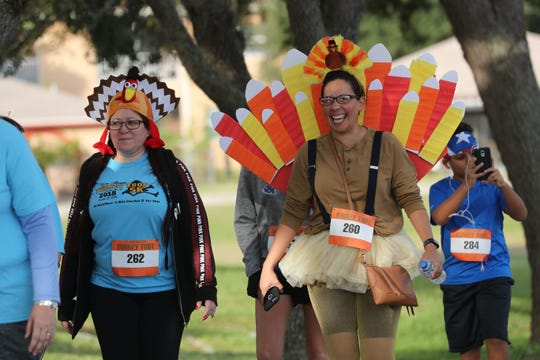 A Turkey Trot-themed costume contest will be held with the three best entries receiving a pumpkin pie.