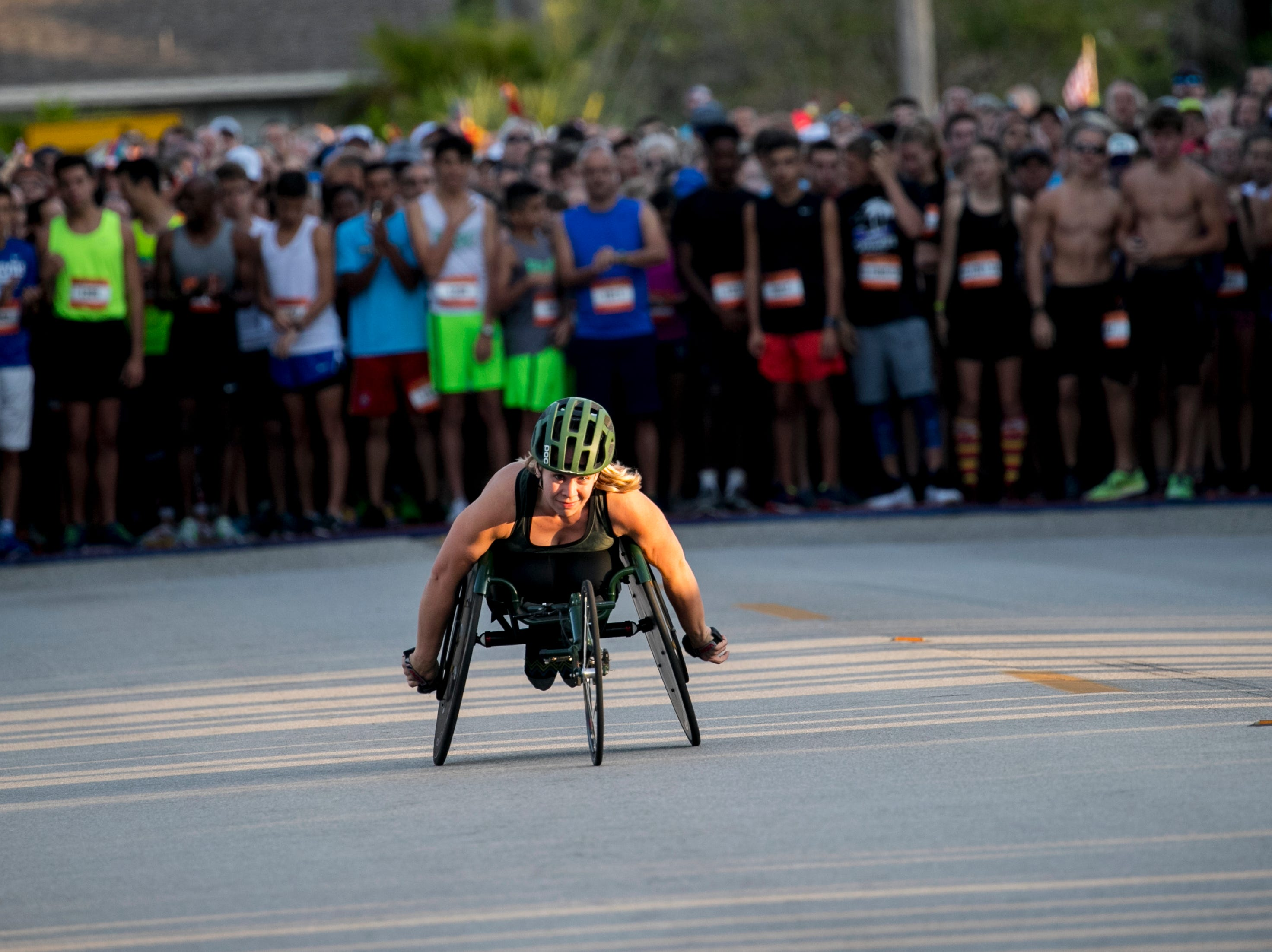 Arielle Rausin starts the 39th Annual Turkey Trot 5K Run/Walk on Thursday, November 22, 2018, in Cape Coral. Rausin finished with a time of 13:03.