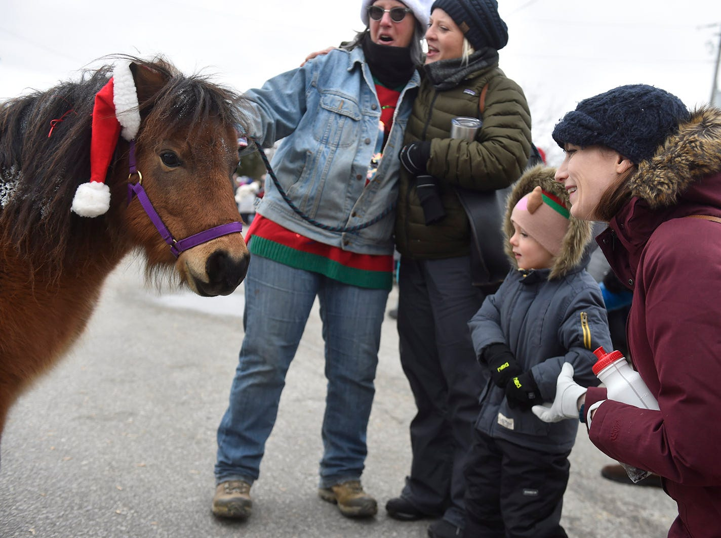 "Miniature pony ""Mini Cooper'' greets parade-goers at the Thanksgiving Day Parade in Jacksonport on Thursday, Nov. 22, 2018. Tina M. Gohr/USA TODAY NETWORK-Wisconsin"