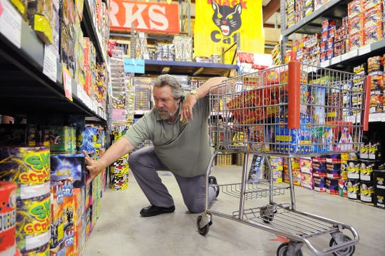 Jerry Watson, owner of Stadium View Bar & Grille, is pictured buying fireworks for Fourth of July in 2009. Watson, 72, died Nov. 21, 2018.