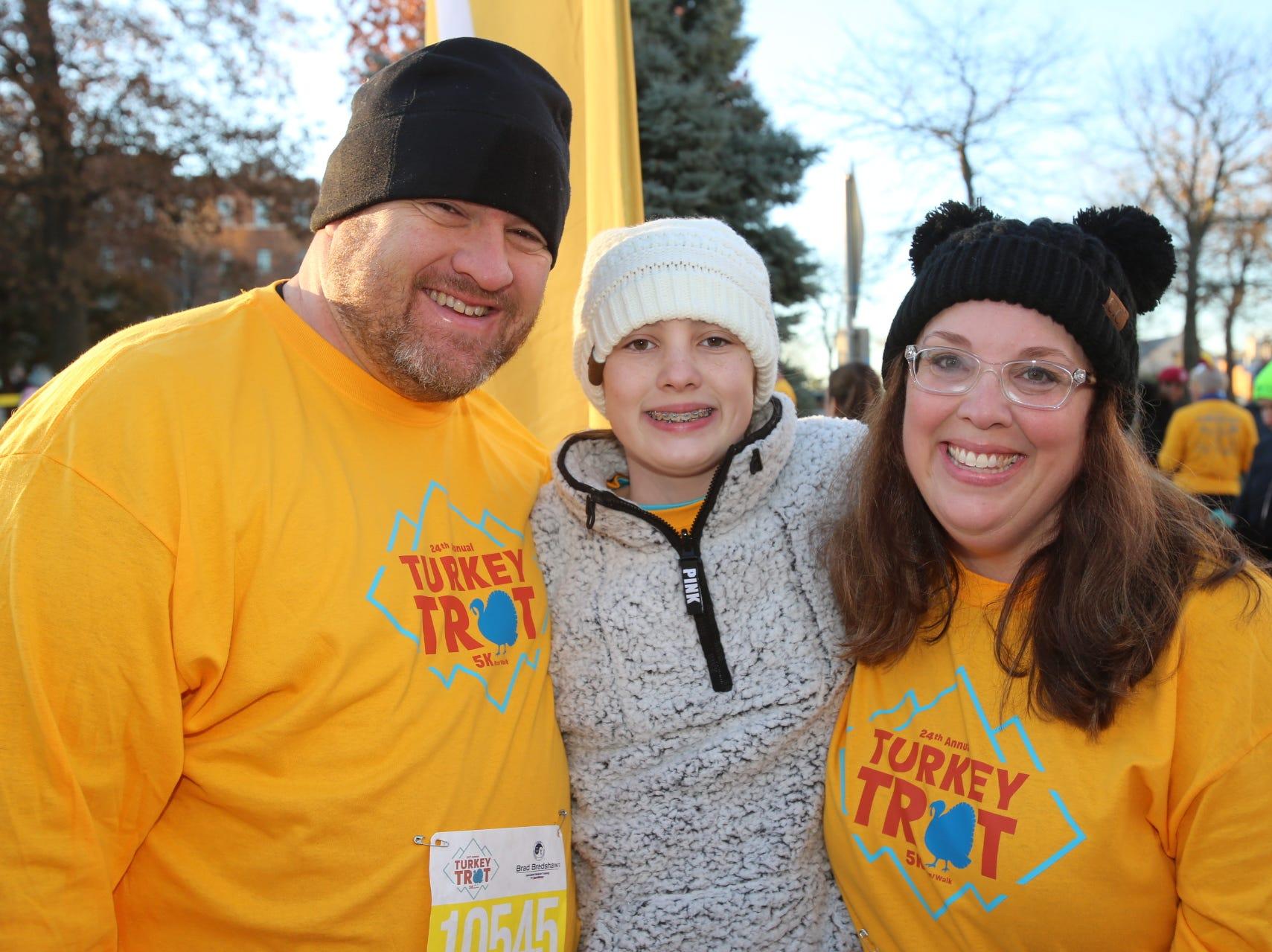 Chad, Maddie, and Jennifer Hampton