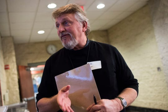 Bob Arthur, volunteer coordinator for Knoxville Area Rescue Ministries' annual Thanksgiving meal, speaks about his role, in downtown Knoxville Thursday, Nov. 22, 2018.