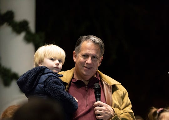 The Pine Leaf Boys played a special Downtown Alive! to close out the free concert series on Thanksgiving eve. Young and old enjoyed music, food and dancing. Mayor-President Joel Robideaux lit the Christmas tree with help for the children in the crowd.