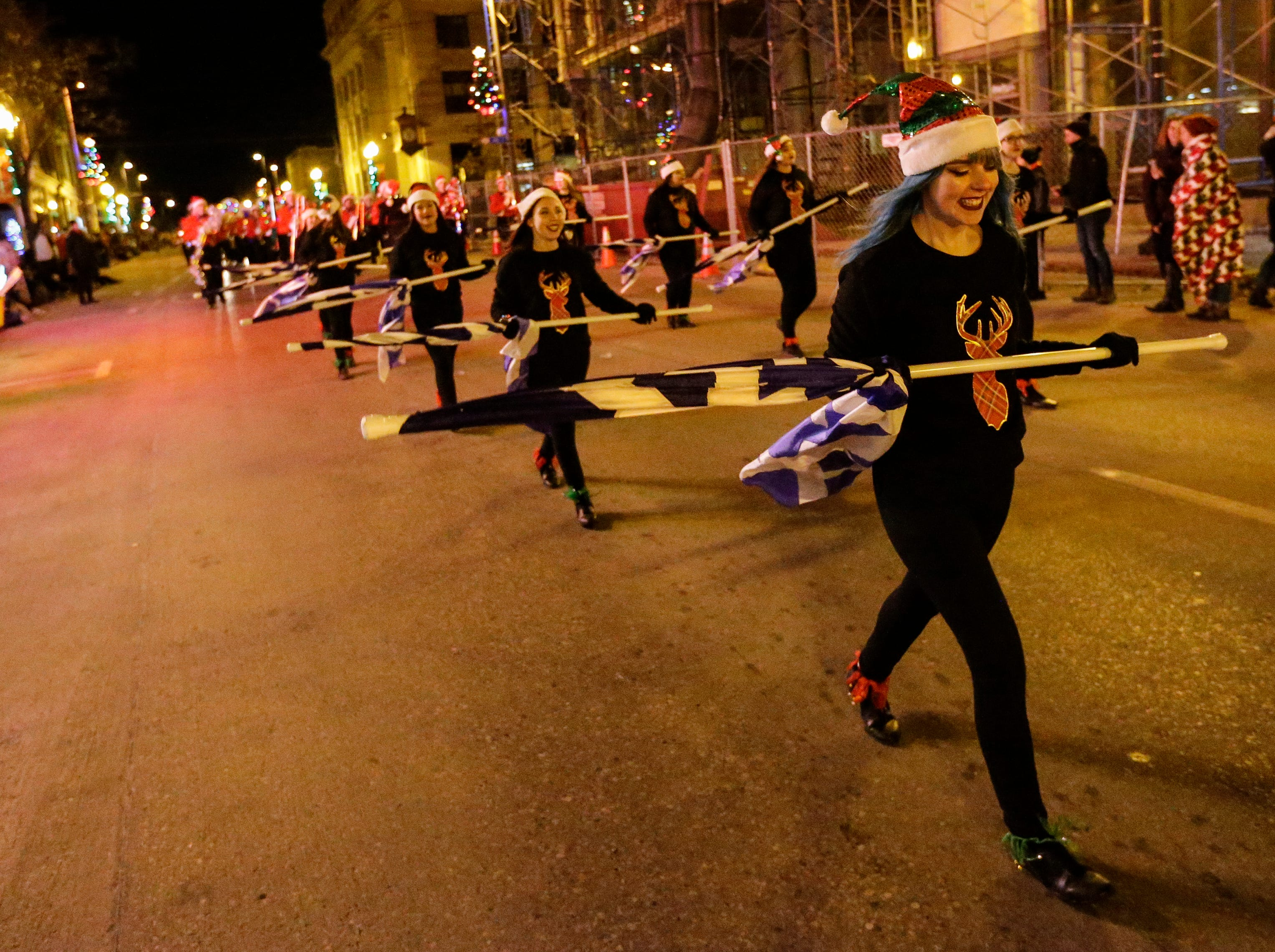 """The 30th Annual Lakeshore Holiday Parade Wednesday, November 21, 2018, in Manitowoc, Wis. This year's theme was """"Christmas Through the Decades."""" Joshua Clark/USA TODAY NETWORK-Wisconsin"""