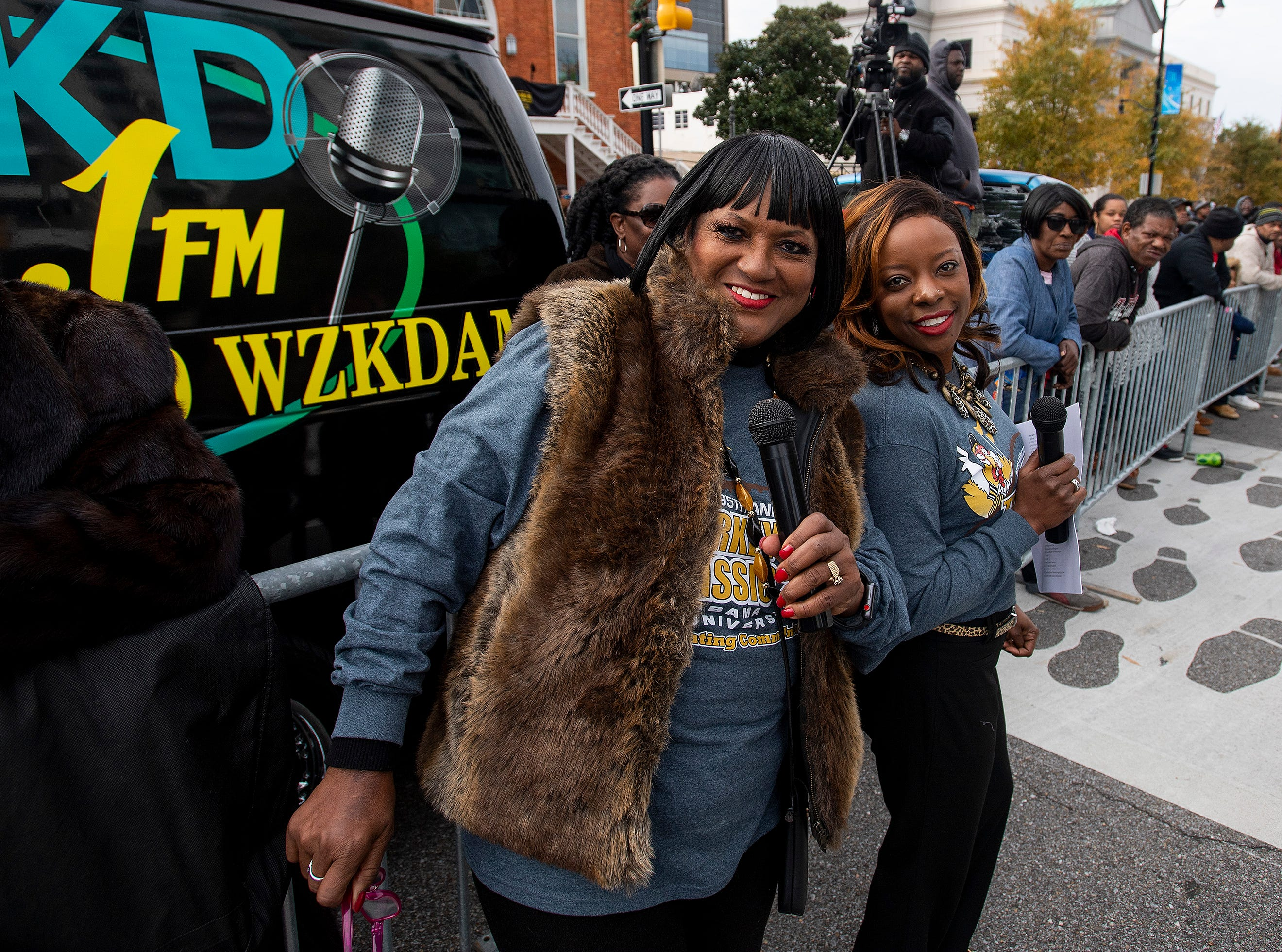 During the Turkey Day Classic Parade in downtown Montgomery, Ala., on Thanksgiving Day, Thursday November 22, 2018.