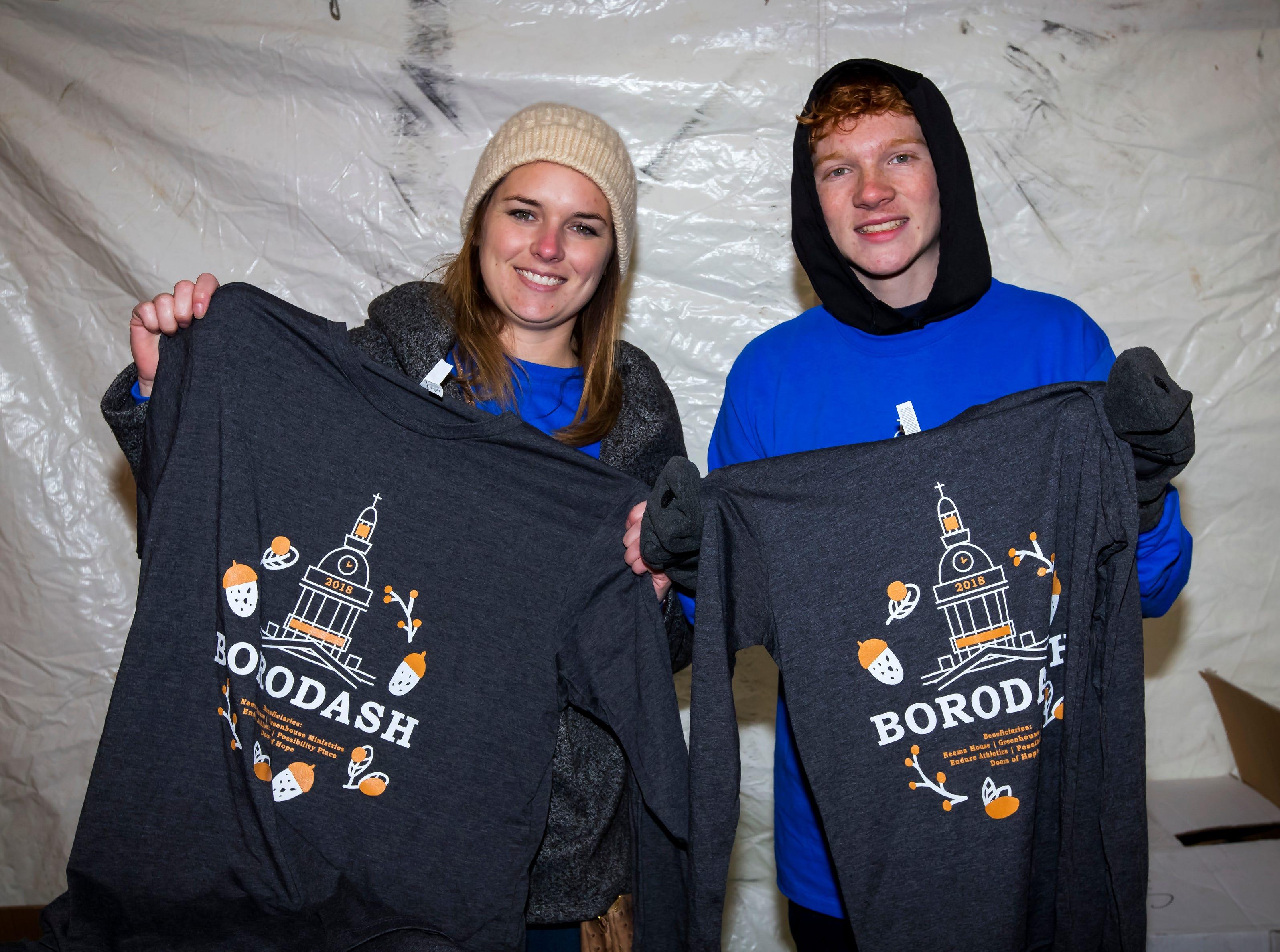Samantha Naes and Nolan Blair at  the Thanksgiving Day Borodash. A 4-mile walk/run through historic Murfreesboro.Jim Davis/for the DNJ
