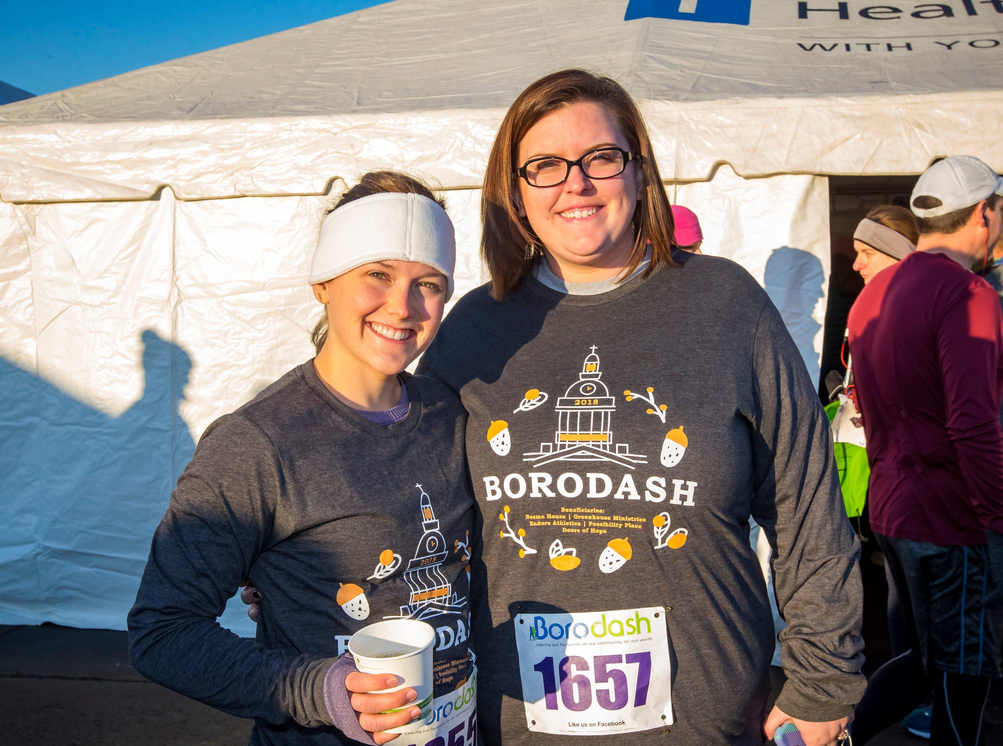 Whitney and Carley Roberts at  the Thanksgiving Day Borodash. A 4-mile walk/run through historic Murfreesboro.Jim Davis/for the DNJ