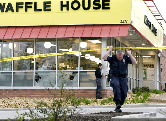 Four people died after a gunman opened fire at a Waffle House in Antioch early Sunday, April 22, 2018, before hero James Shaw Jr. wrestled the gun away, according to Metro Nashville Police.