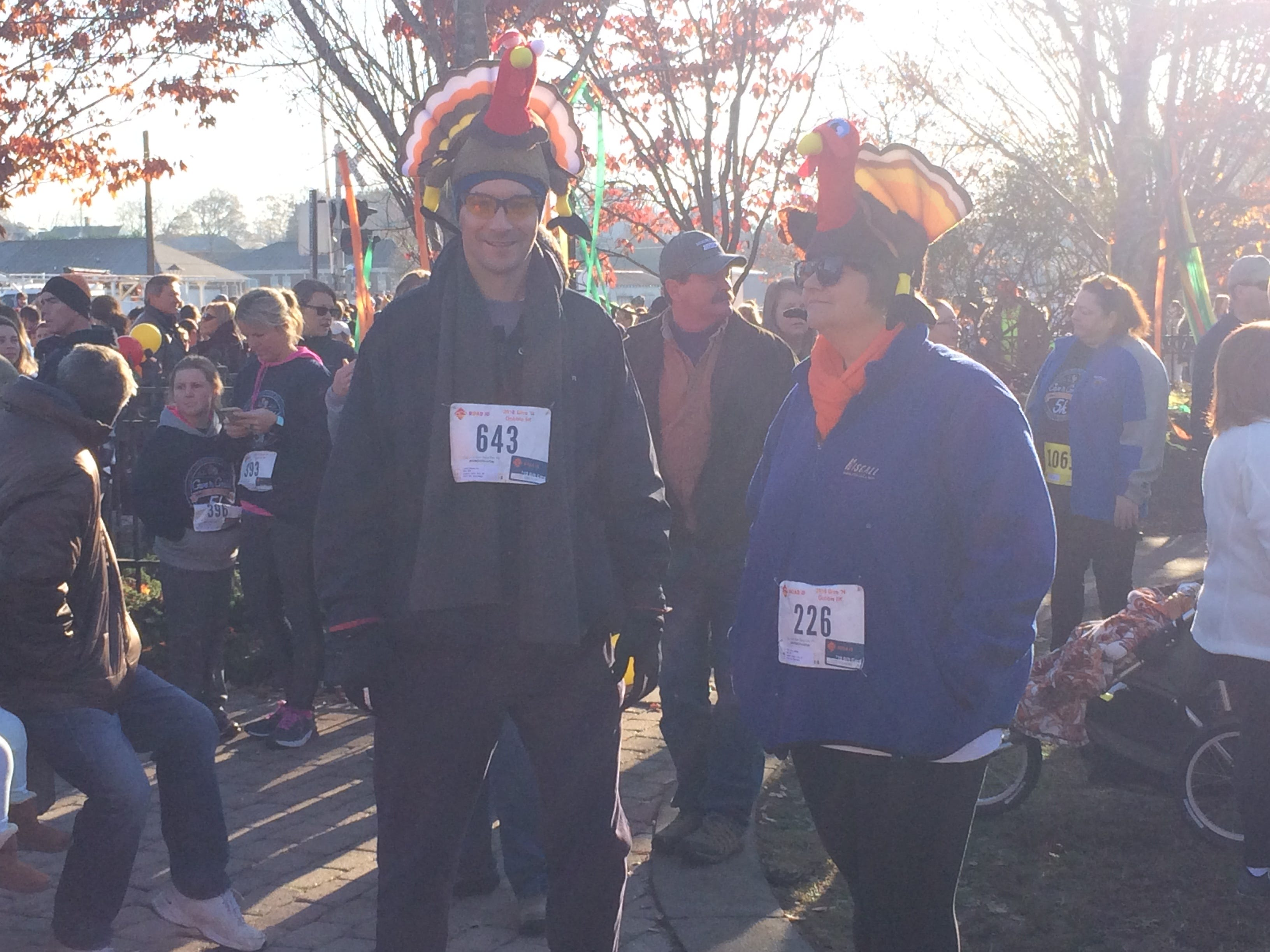 Turkeys were everywhere at the Give N Gobble 5K.