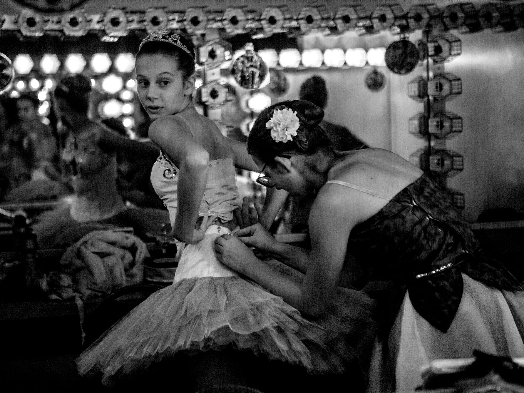 Backstage at the Midland theater during a dress rehearsal of the Central Ohio Youth Ballet's production of the Nutcracker. The show runs Thanksgiving Weekend at the Midland theater. Tickets are still available.