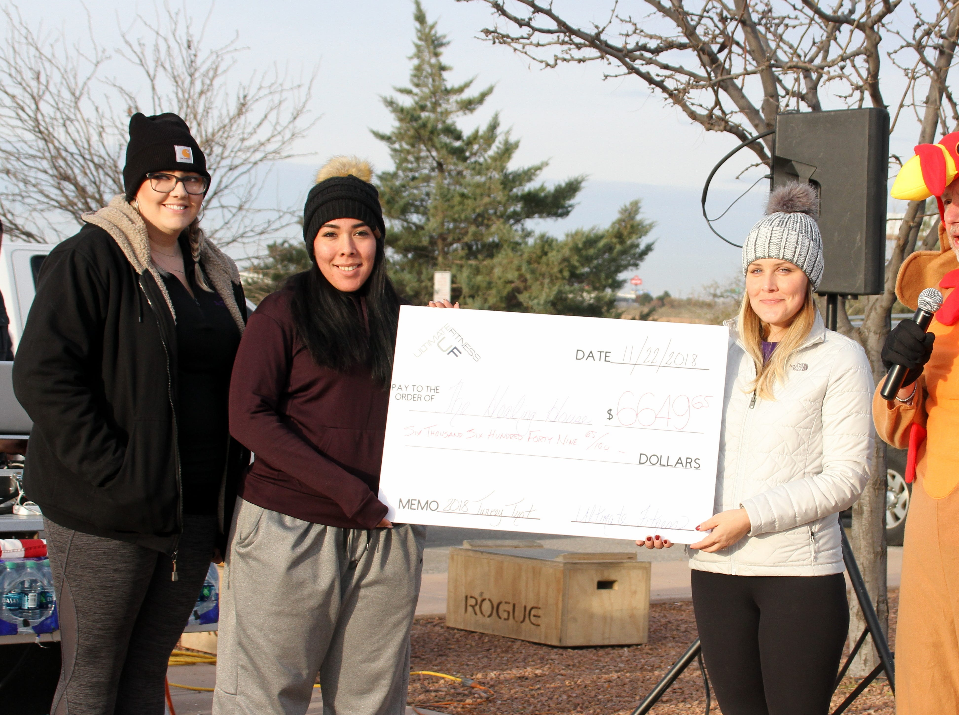 The Healing House, Luna County's shelter for victims of domestic violence, received a check for $6,649.