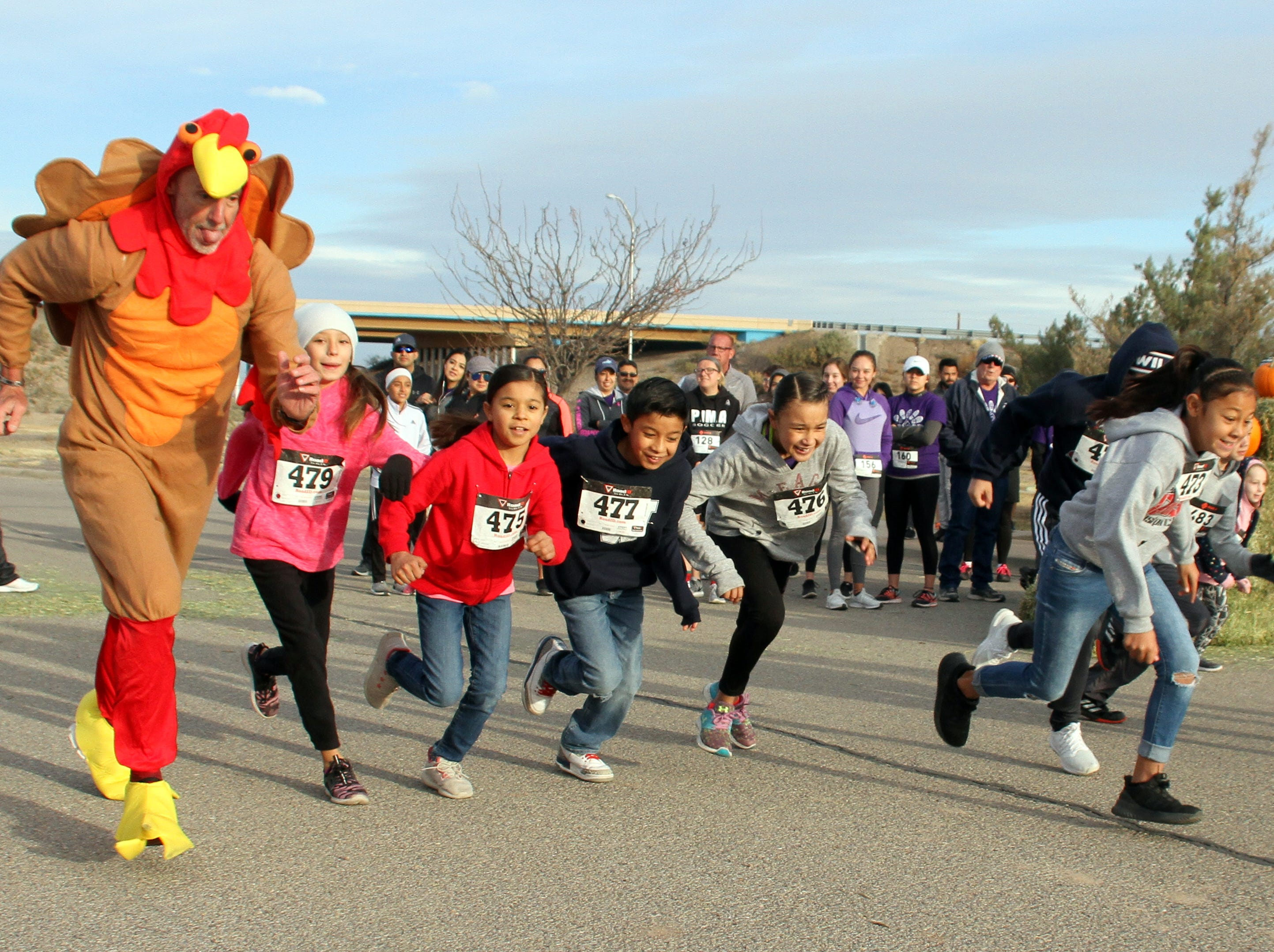 "The kids' 1-mile fun run is off at Voiers' ""Pit"" Park."