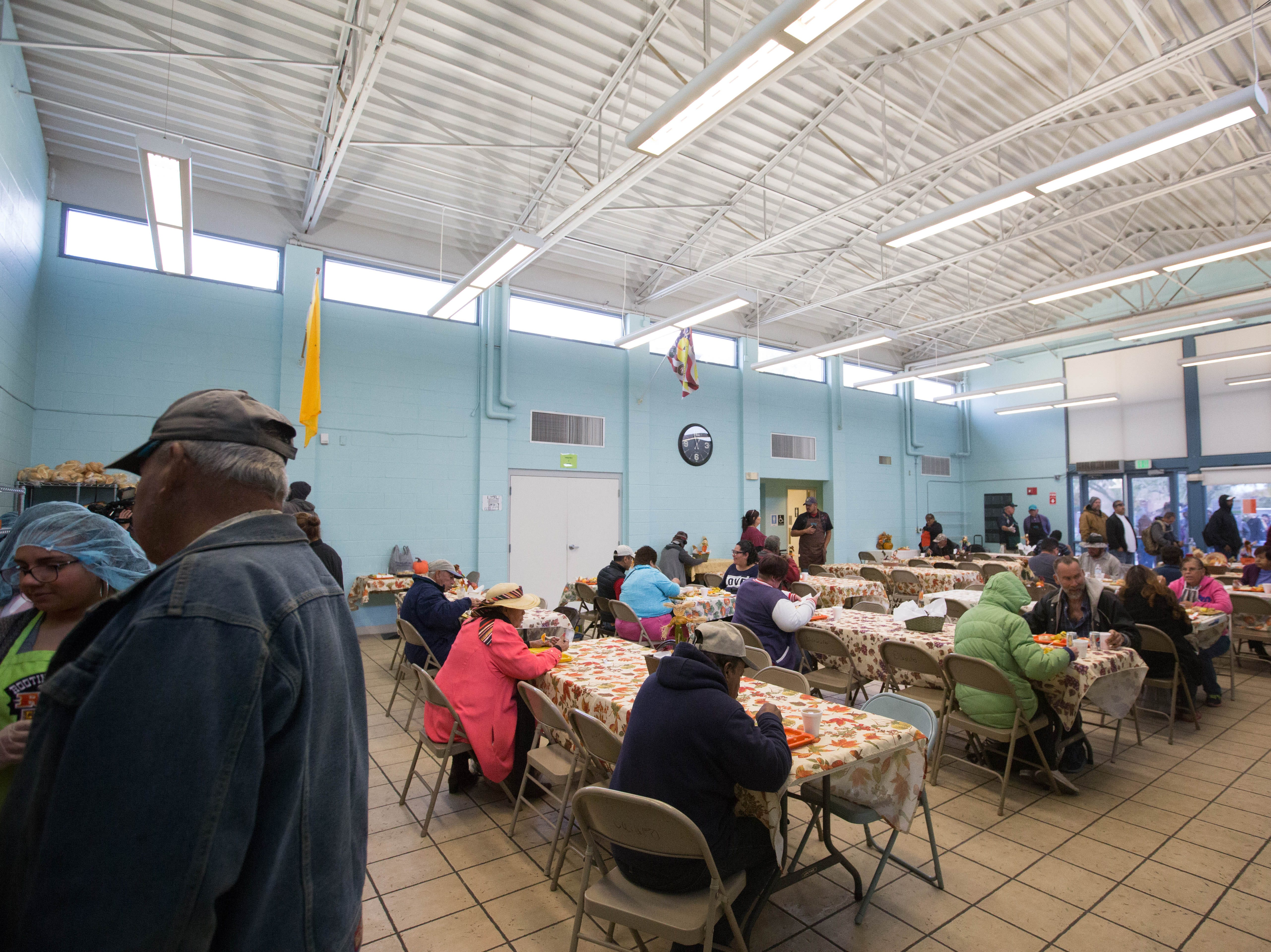 El Caldito Soup Kitchen, held its annual Thanksgiving day dinner, Thursday November 22, 2018. Organizers expected to serve around 400 people.