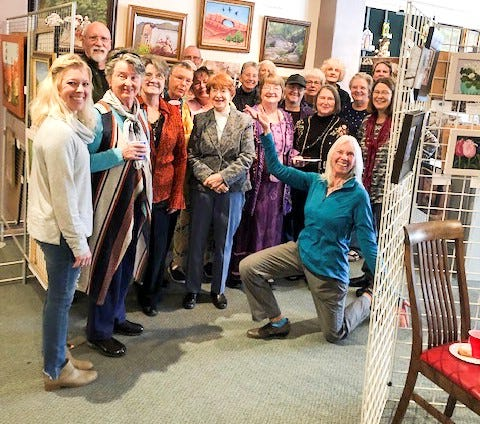 The Grant County Art Guild Gallery opened its doors Nov. 17 at its new space in the former Hester House building at the corner of Bullard and Market with an opening reception for customers, artist members and friends.