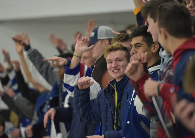 CC students  get fired up before the game.