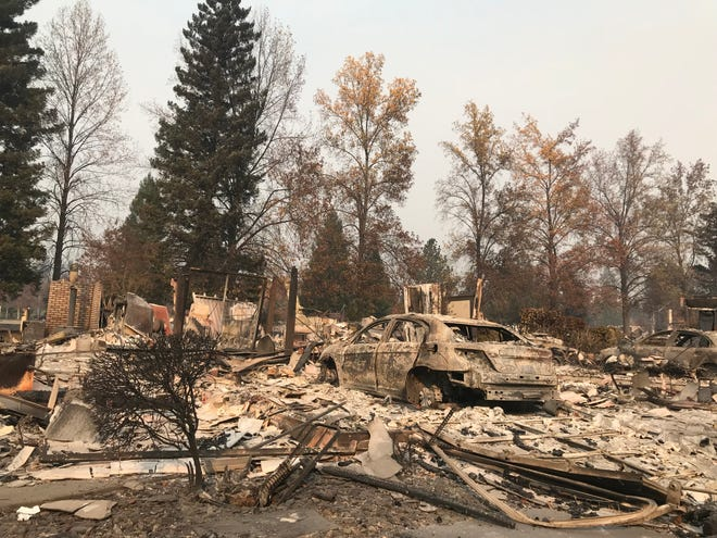 Houses throughout Paradise burned to the ground