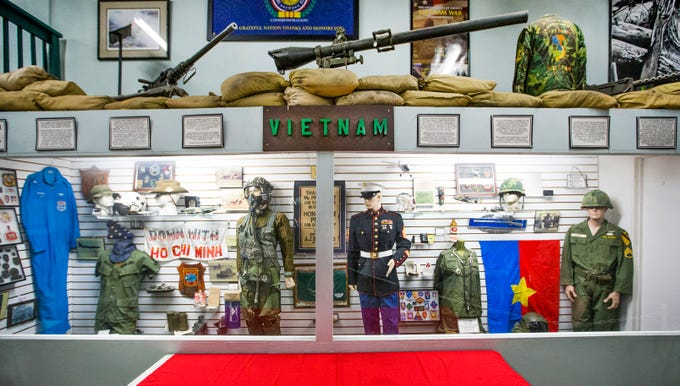 Military items from the Vietnam War are on display at the Arizona Military Museum, sponsored by the Arizona National Guard Historical Society. The museum is located on the Arizona National Guard Papago Park Military Reservation at 5636 E McDowell Road in Phoenix and admission is free.