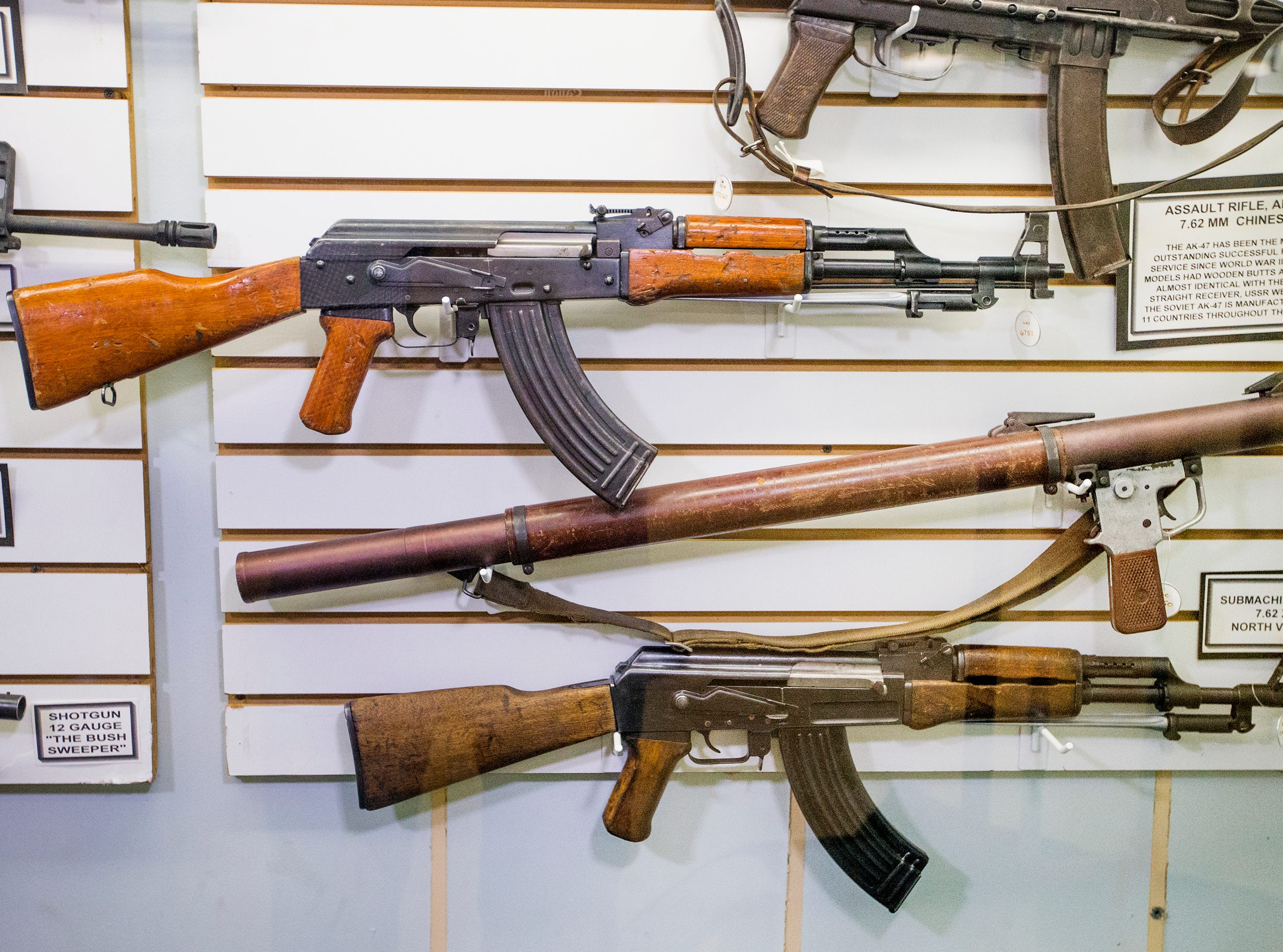 These are some weapons on display from the VietNam War at the Arizona Military Museum, sponsored by the Arizona National Guard Historical Society. The museum is located on the Arizona National Guard Papago Park Military Reservation at 5636 E McDowell Road in Phoenix and admission is free.