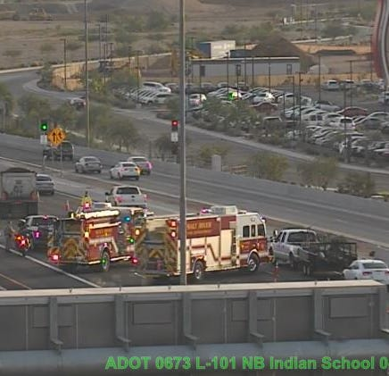5-vehicle crash causes major rush-hour backup on Loop 101 near Scottsdale