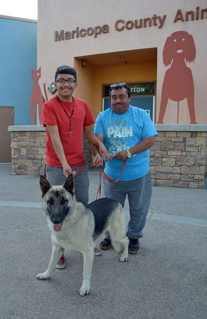 Flash was reunited with his family on Wednesday.