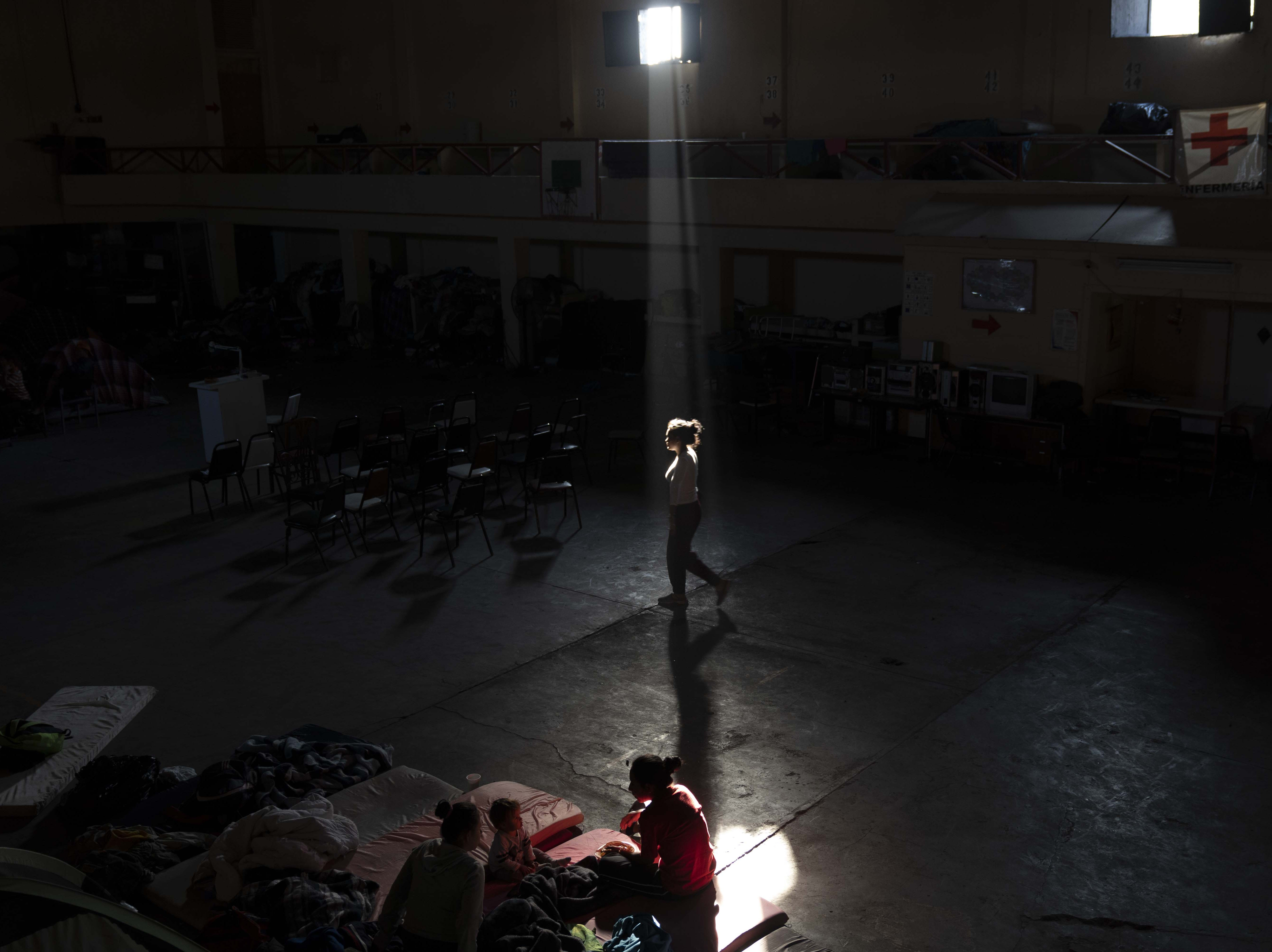 Central Americans from Honduras and El Salvador stay at a shelter run by Grupo de Ayuda para el Migrante en Mexicali, a Christian-based group in Mexicali, Mexico. Some migrants are waiting to go to Tijuana to join others in the migrant caravan to cross the U.S. port of entry and ask for asylum.