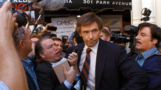 """Hugh Jackman stars in """"The Front Runner."""" The movie is playing at Frank Theatres Queensgate Stadium 13."""