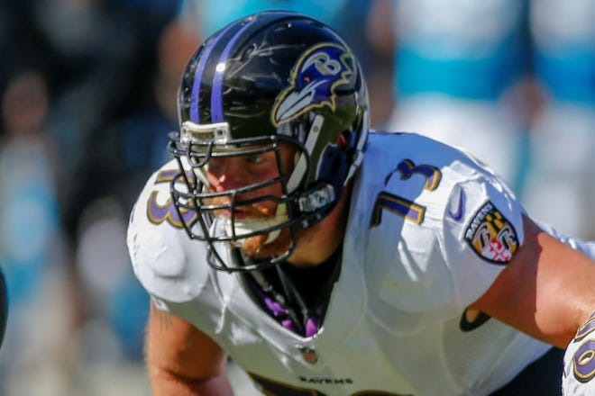 Baltimore Ravens offensive guard Marshal Yanda. (AP Photo/Nell Redmond)