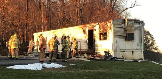 A trailer on 600 block of Broad Street in Peach Bottom Township caught fire early Thursday morning on November 22, 2018 in southern York County.