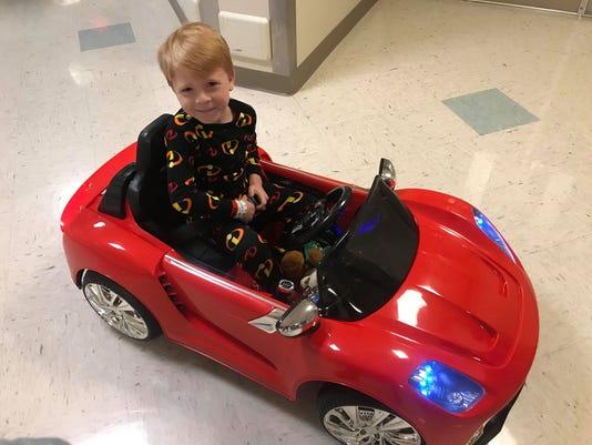 Logan In Car