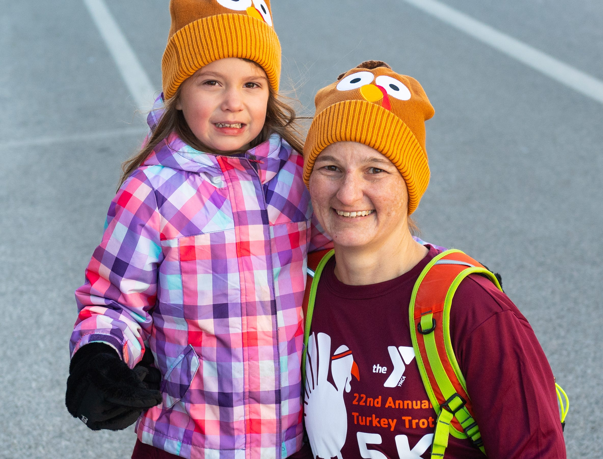 Many parents ran and walked with their children during the 22nd Annual Turkey Trot 5K, on Thanksgiving Day, November 22, 2018.