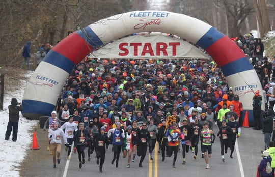 Before sitting down to give thanks, thousands of people will participate in the Webster Turkey Trot Nov. 28.