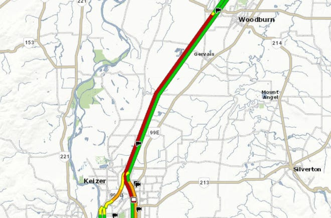 Two crashes near exit 258 appear to have snarled Interstate 5 traffic all the way to the Woodburn area.