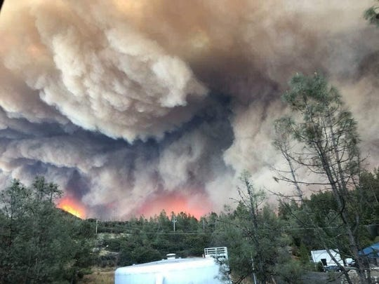 Camp Fire Wildfire destroyed the town of Paradise near Chico, California.