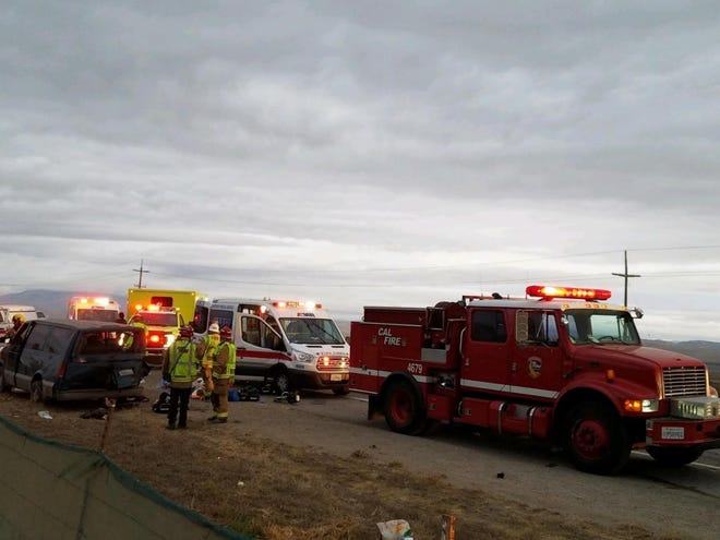 Cal Fire, California Highway Patrol and the Southern Monterey County Fire Protection District responded to a two-vehicle accident that left two dead Wednesday morning just north of King City.