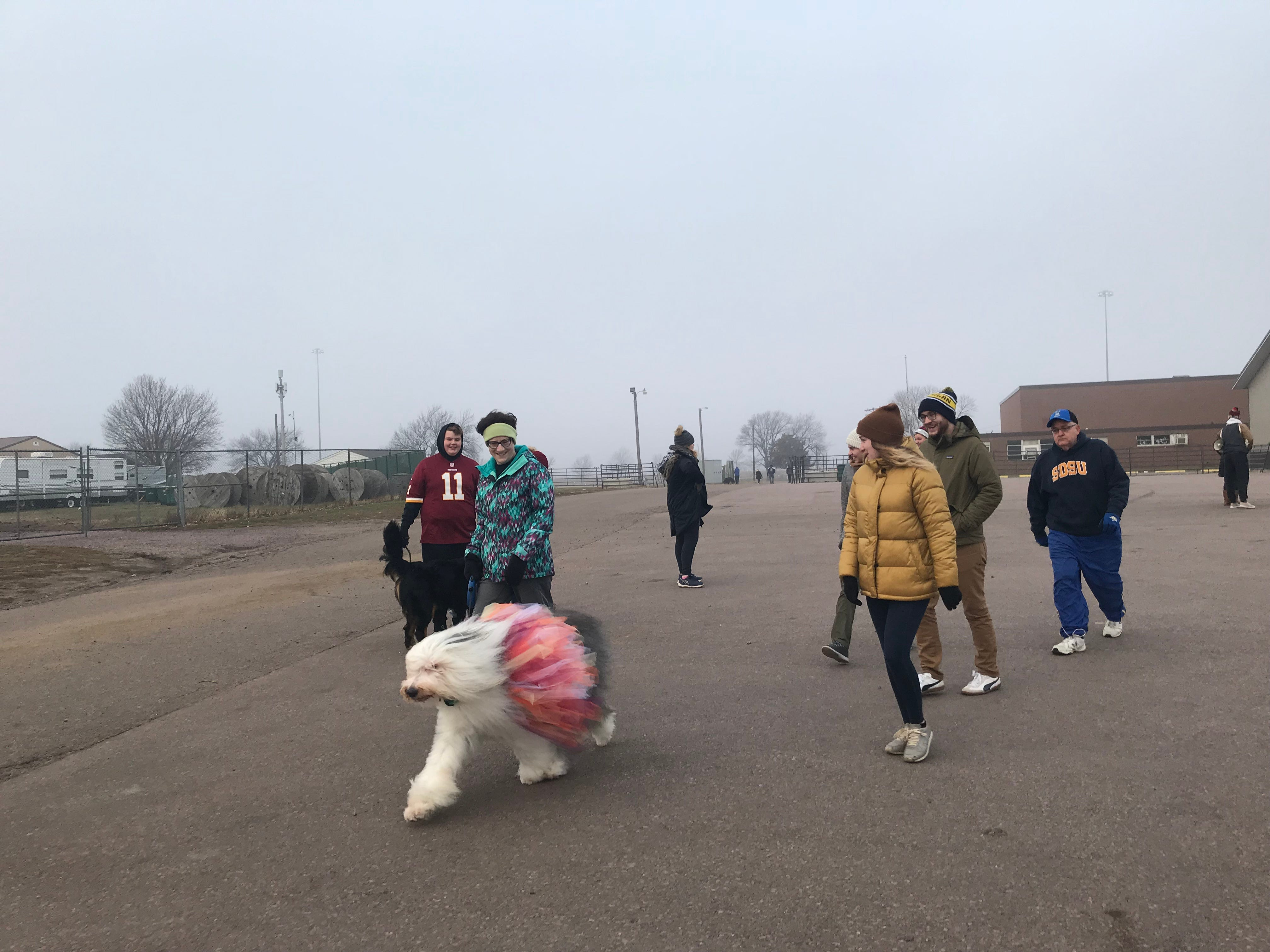 The 2018 Run for Food is tradition for Michelle Erpenbach and her family. The former City Councilor dressed her dog Chumley in multi-colored tulle to give him the look of turkey plumage.