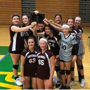 The eighth grade volleyball team at Cherokee Middle School won the All City Tournament.