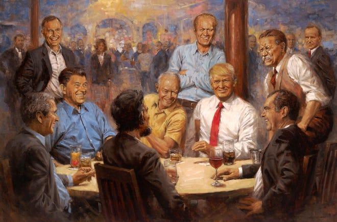 """The Republican Club"" by Ozarks artist Andy Thomas."