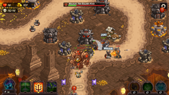 "In ""Kingdom Rush: Vengeance,"" you are the bad guy, trying to keep out those pesky dwarves and humans."