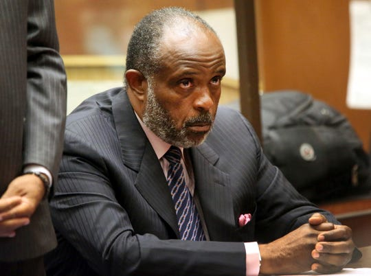 This Sept. 3, 2014, file photo shows California state Sen. Rod Wright in a Los Angeles courtroom during a hearing on voter fraud charges. The former state senator convicted of lying about his residence was among 38 people pardoned Wednesday by Gov. Jerry Brown.