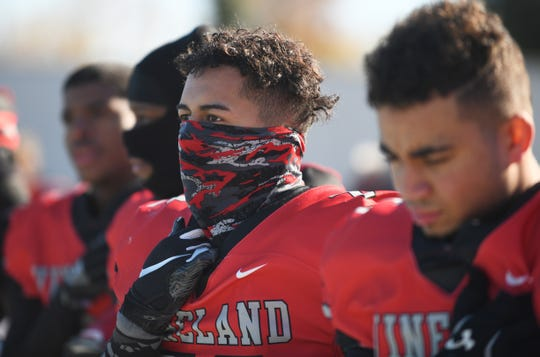 Vineland's Daniel Medina pictured here during a game against Millville at Gittone Stadium on Thanksgiving Day.