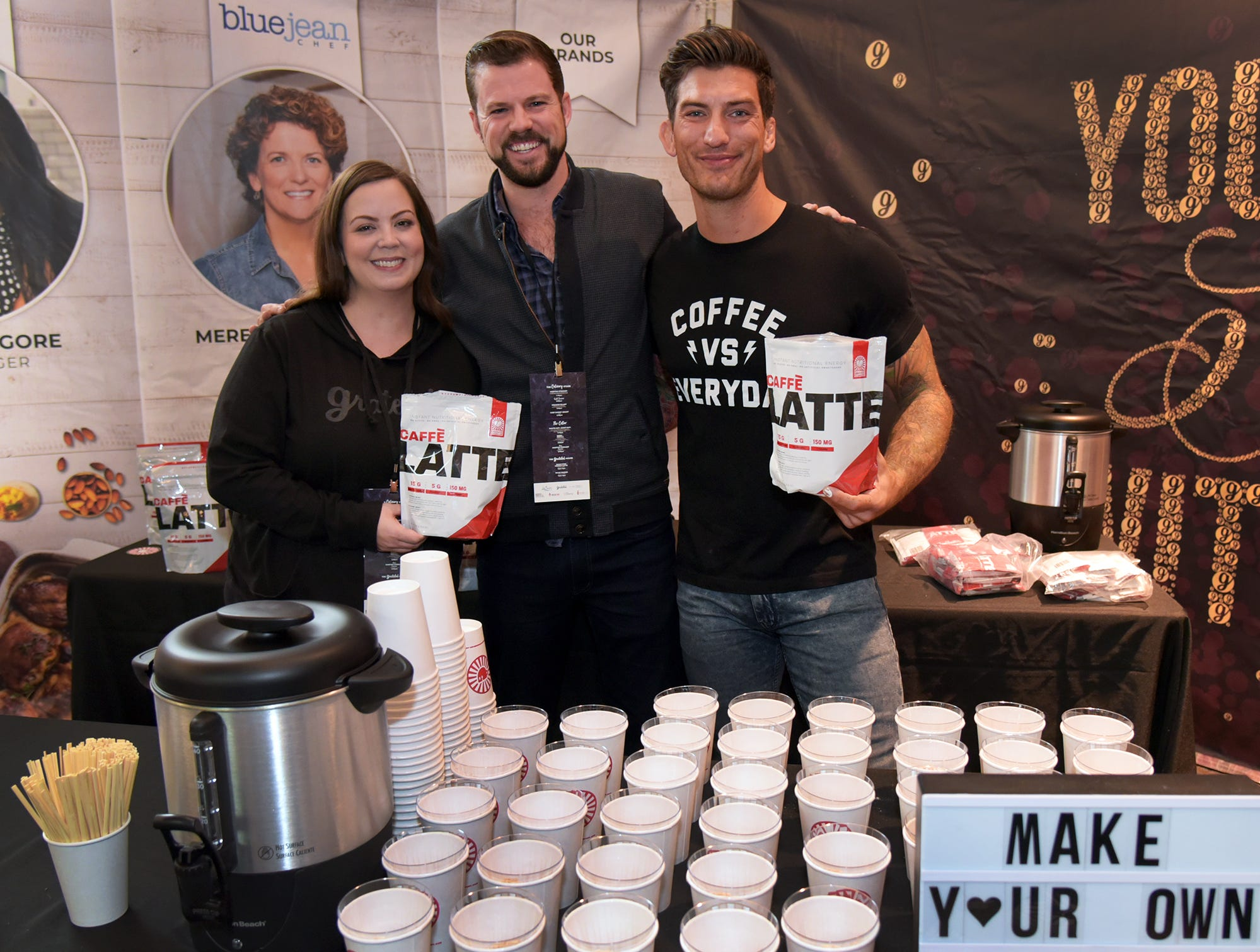 Make your own latte at Wine & Food Experience.